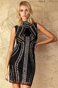Mela Loves London Highneck Beaded Dress