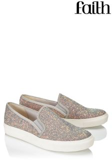 Faith Glitter Detail Trainers