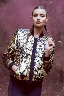 Urban Bliss Sequin Bomber Jacket