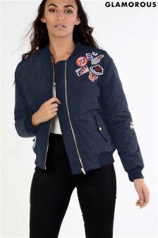 Glamorous Badge Bomber Jacket