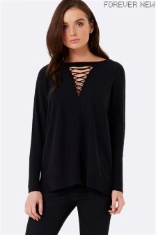 Forever New Lace Up Front Jumper