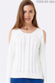 Forever New Cable Cold Shoulder Jumper