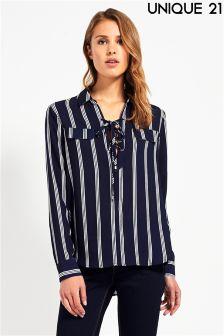 Unique 21 Lace Up Shirt