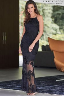 Lipsy Love Michelle Keegan Rose Embroidered Maxi Dress