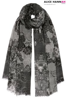 Alice Hannah Lace Floral Scarf