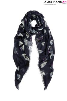 Alice Hannah Night Print Scarf