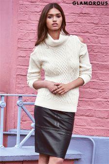 Glamorous PU Midi Skirt