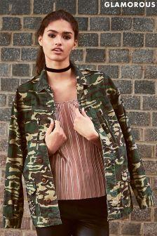Glamorous Camo Print Jacket