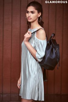 Glamorous Cold Shoulder Pleated Dress