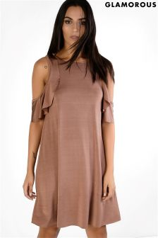 Glamorous Cold Shoulder Swing Dress