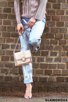 Glamorous Metallic Mom Jeans