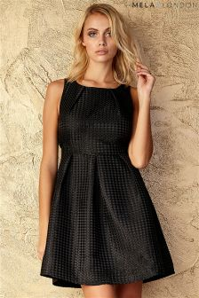 Mela Pleated Skater Dress
