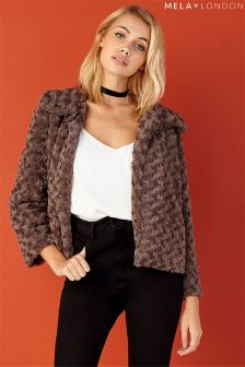 Mela Loves London Faux Fur Jacket