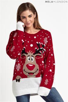 Mela Loves London Reindeer Christmas Jumper