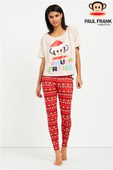 Paul Frank Ladies Christmastee And Stretch Legging PJ Set