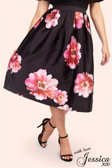 Jessica Wright Floral Prom Style Skirt