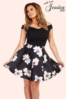 Jessica Wright Floral Sateen Prom Dress