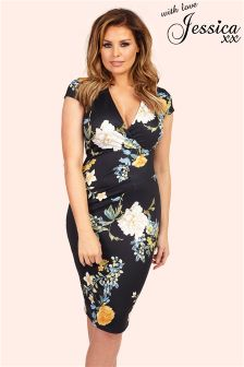 Jessica Wright Oriental Floral Print Bodycon Dress