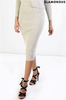 Glamorous Knitted Midi Skirt