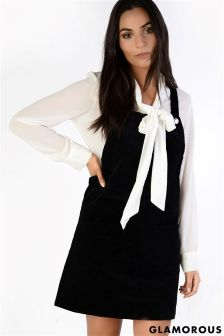 Glamorous Cord Pinafore Dress