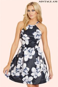 Sistaglam Square Neck Skater Dress