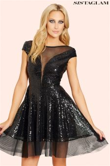 Sistaglam Sequin Prom Dress