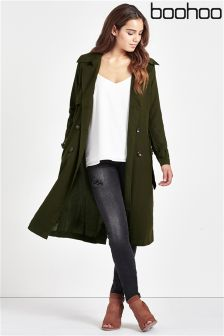 Boohoo Long Line Trench Coat