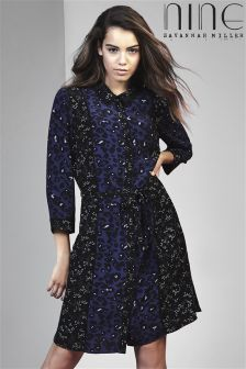 Nine By Savannah Miller Star Mix Print Shirt Dress