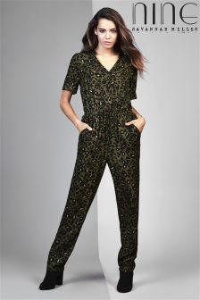 Nine By Savannah Miller Animal Print Jumpsuit