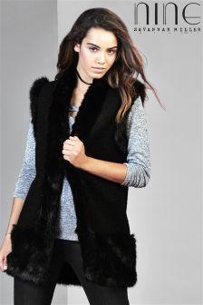 Nine By Savannah Miller Faux Fur Gilet