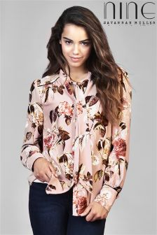 Nine By Savannah Miller Pussy Bow Blouse