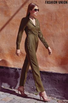 Fashion Union Military Jumpsuit