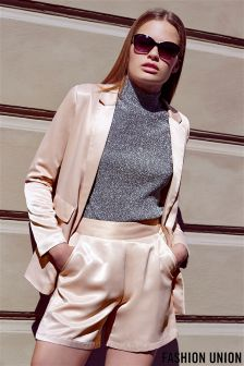 Fashion Union Satin Blazer