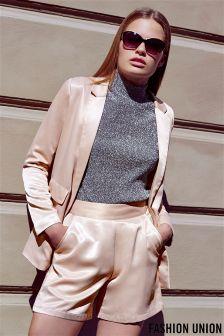 Fashion Union Satin Blazer
