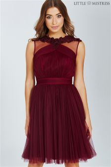 Little Mistress Lace Mesh Prom Dress