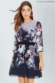 Little Mistress Floral Print Mini Dress
