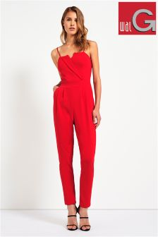 Wal G Tailored Detail Jumpsuit