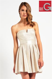 Wal G Metallic Bandeau Fit And Flare Dress