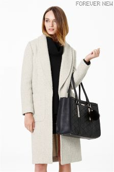 Forever New Textured Long Cardigan Coat