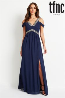 tfnc Cold Shoulder Maxi Dress