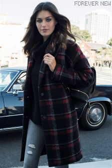 Forever New Check Coat