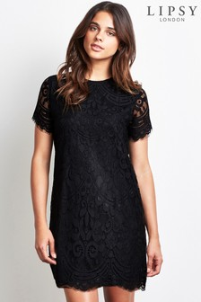 Pretty lace dresses black