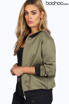 Boohoo Plus Bomber Jacket