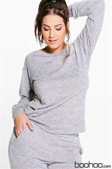 Boohoo Plus Size Lounge Sweater
