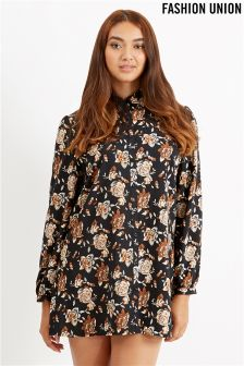 Fashion Union Curve Printed Shirt Dress