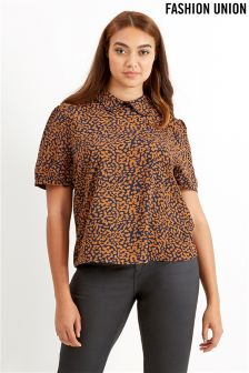 Fashion Union Curve Collared Blouse