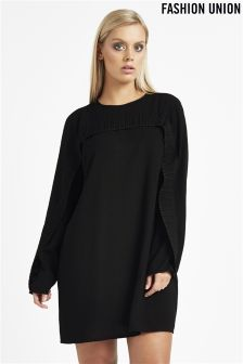 Fashion Union Curve Ruffle Detail Dress