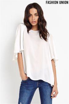 Fashion Union Curve Kimono Sleeve Blouse