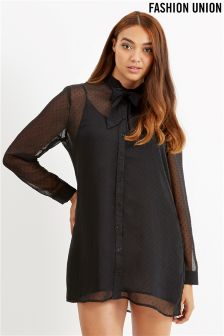 Fashion Union Curve Double Layer Cami Dress