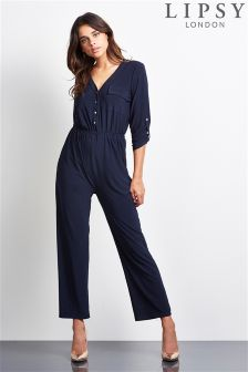Lipsy Long Sleeve Pocket Jumpsuit